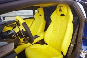 Lamborghini Huracan LP610-4 / čalounění interieru – kůže a alcantara (leather and alcantara interior)